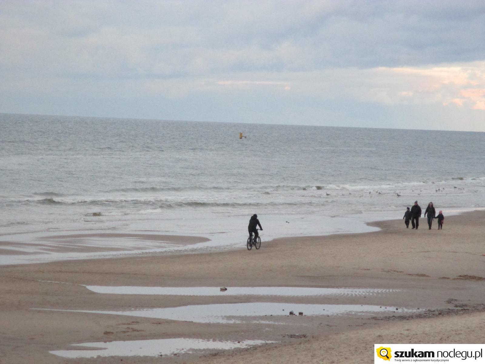 Rowerem po plaży