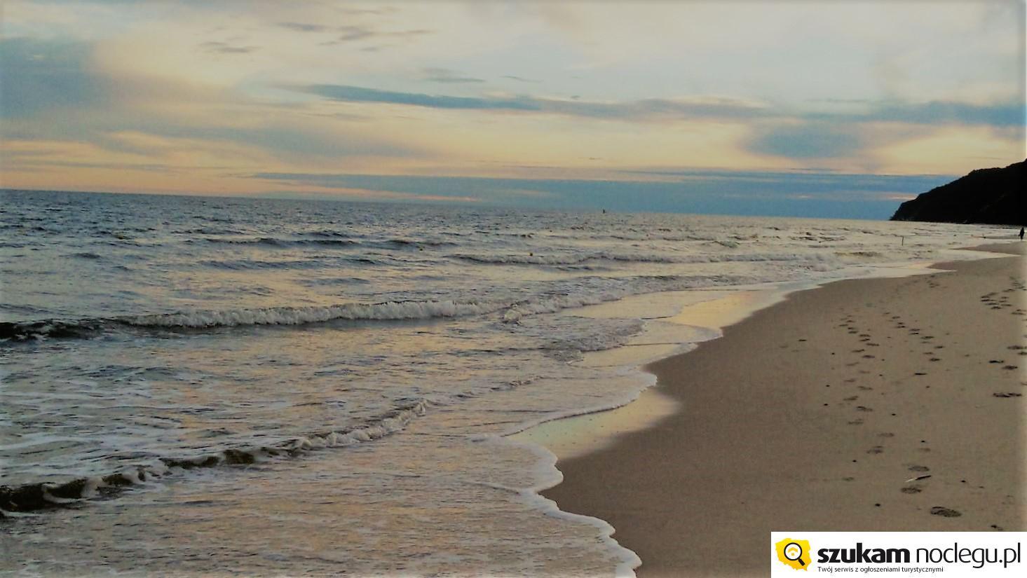 Międzyzdroje plaża - sierpniowy świt